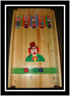 Ball roll carnival game - Top Hat Clown