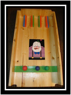 Ball Roll carnival game - Fat Clown